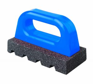 """6"""" x 3"""" Rub Brick (Fluted) with Handle - 20 grit"""